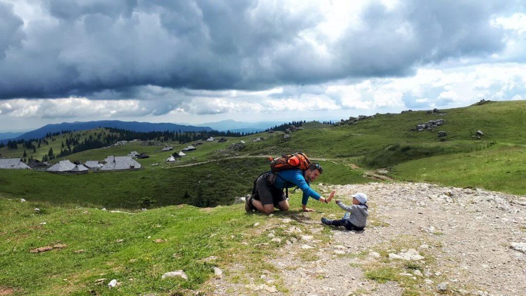 velika planina z dzieckiem