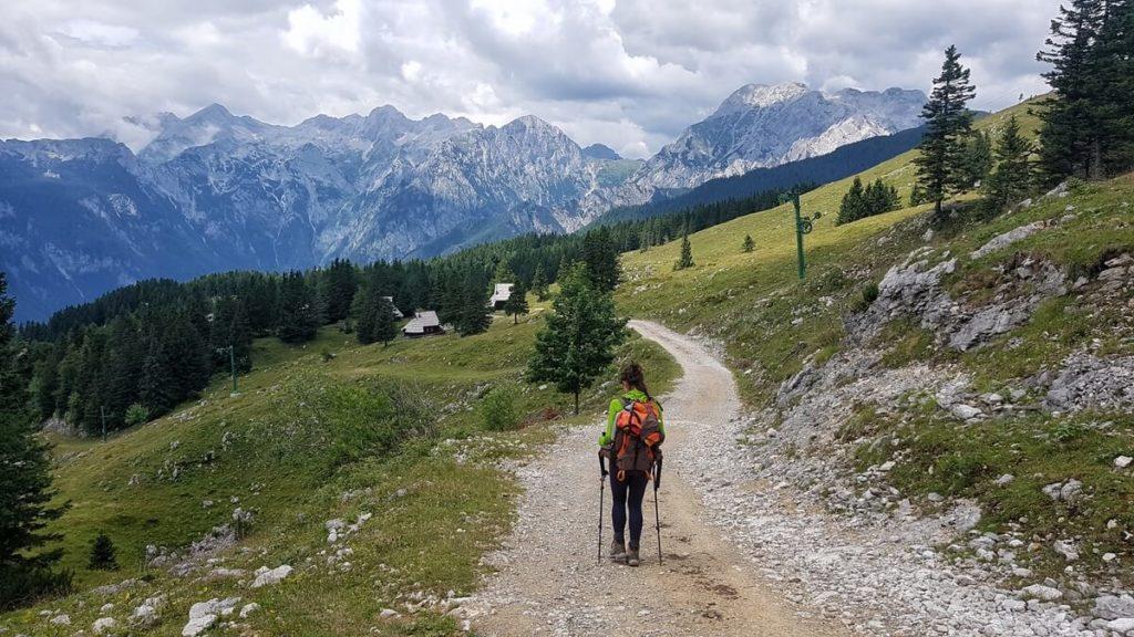 velika planina widok na Alpy