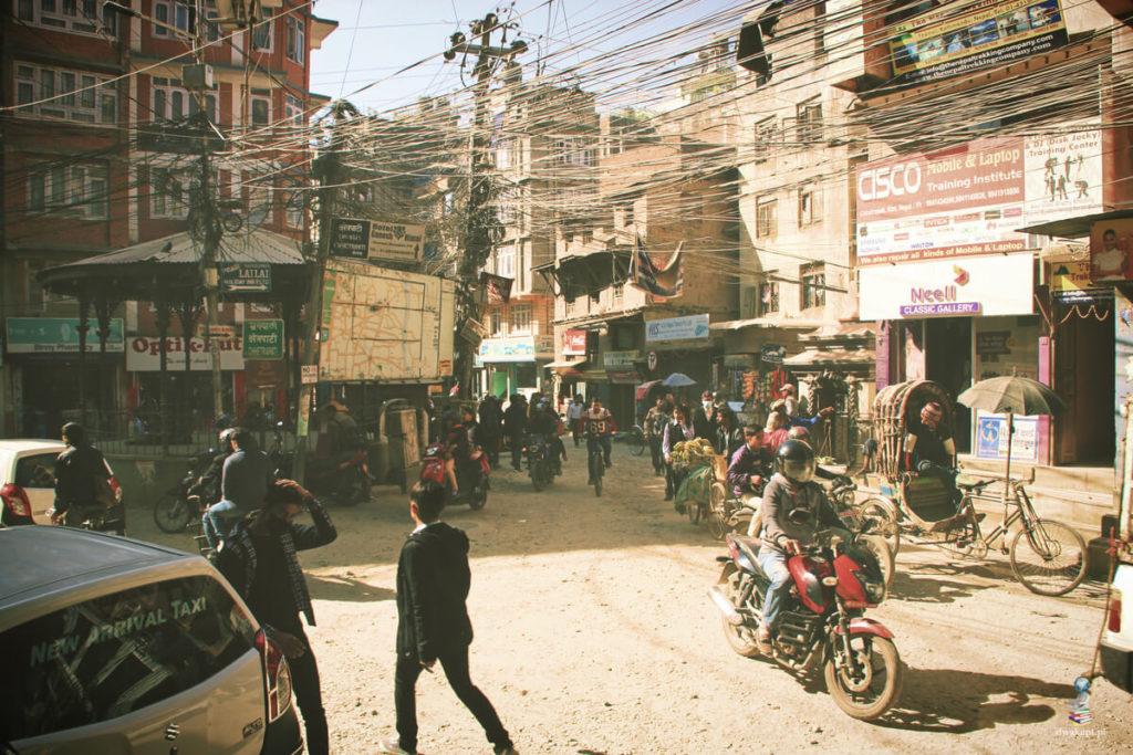 skrzyżowanie w katmandu