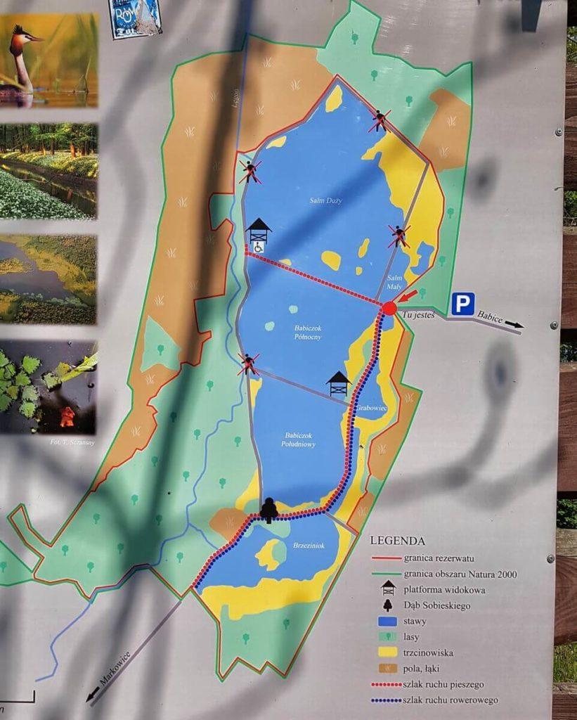 mapa rezerwatu łężczok